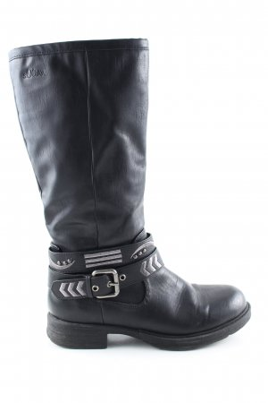 s.Oliver Riding Boots black casual look