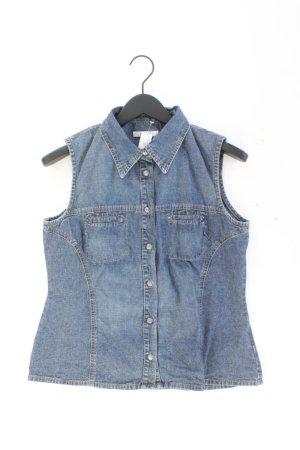 s.Oliver Retro Jeansbluse Größe M Ärmellos Vintage blau aus Baumwolle
