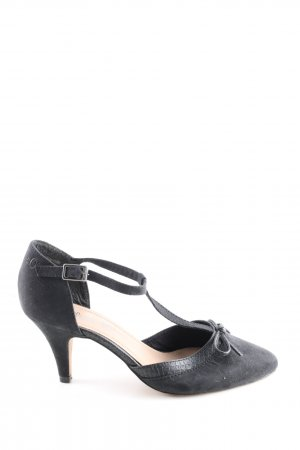 s.Oliver Riemchenpumps schwarz Business-Look