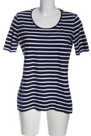 s.Oliver Stripe Shirt black-white allover print casual look