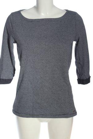 s.Oliver Camisa de rayas gris claro-negro moteado look casual