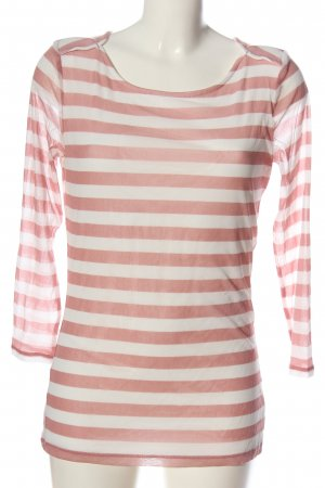 s.Oliver Ringelshirt weiß-pink Streifenmuster Casual-Look