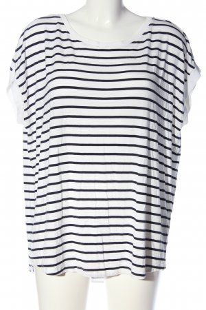 s.Oliver Stripe Shirt black-white striped pattern casual look