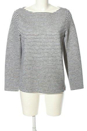 s.Oliver T-shirt rayé noir-blanc motif rayé style décontracté