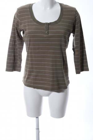 s.Oliver Ringelshirt khaki-wollweiß Streifenmuster Casual-Look