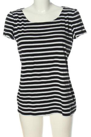 s.Oliver Camisa de rayas negro-blanco look casual