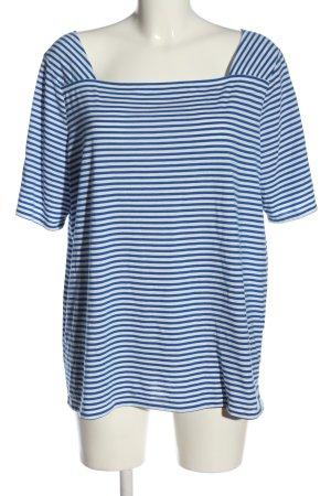 s.Oliver T-shirt rayé blanc-bleu motif rayé style décontracté