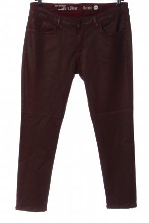 s.Oliver Drainpipe Trousers red casual look