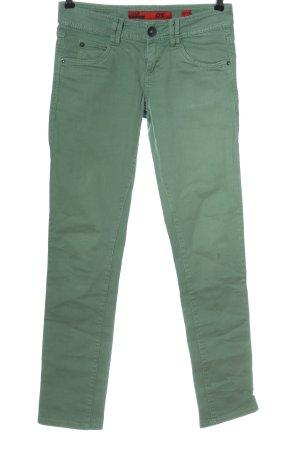 s.Oliver Pantalon cigarette vert style décontracté