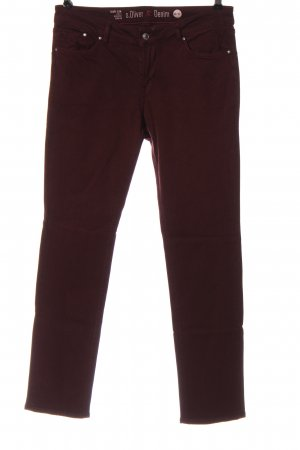 s.Oliver Röhrenjeans rot Streifenmuster Casual-Look