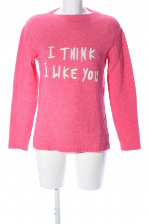 s.Oliver Rollkragenpullover pink-weiß meliert Casual-Look