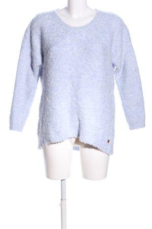 s.Oliver Kraagloze sweater blauw casual uitstraling