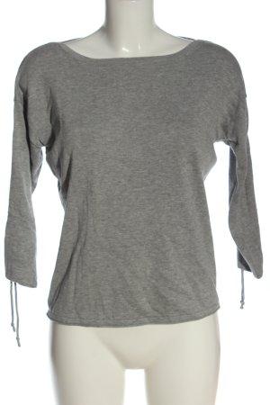 s.Oliver Jersey de cuello redondo gris claro moteado look casual
