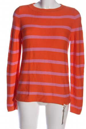 s.Oliver Rundhalspullover rot-pink Streifenmuster Casual-Look
