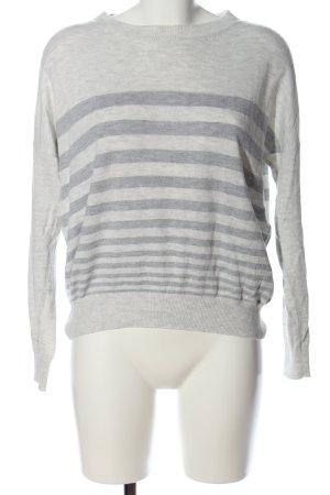 s.Oliver Kraagloze sweater lichtgrijs-zilver gestippeld casual uitstraling