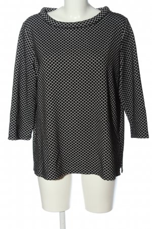 s.Oliver Crewneck Sweater black-white allover print casual look