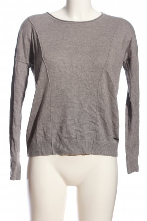 s.Oliver Kraagloze sweater wolwit gestippeld casual uitstraling