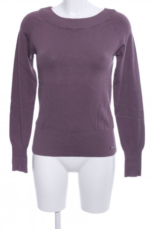 s.Oliver Kraagloze sweater lila casual uitstraling