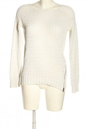 s.Oliver Strickpullover wollweiß Zopfmuster Casual-Look
