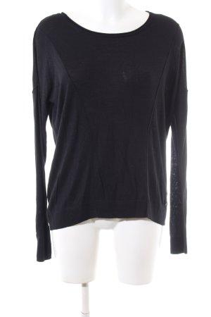 s.Oliver Kraagloze sweater zwart casual uitstraling