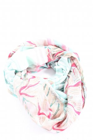 s.Oliver Snood roze-blauw abstract patroon casual uitstraling