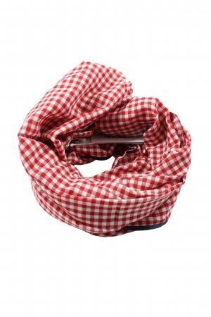 s.Oliver Snood rood-wit geruite print casual uitstraling