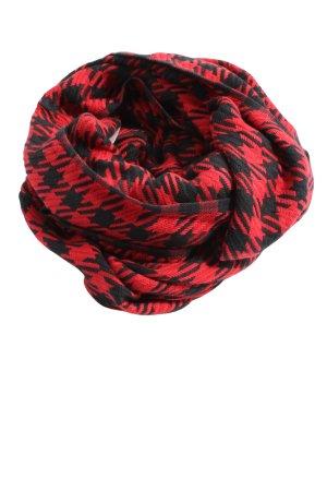 s.Oliver Écharpe ronde rouge-noir imprimé allover style décontracté