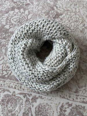 QS by s.Oliver Gebreide sjaal wit-zwart