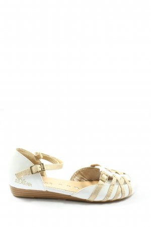 s.Oliver Półbuty Mary Jane biały-w kolorze białej wełny W stylu casual