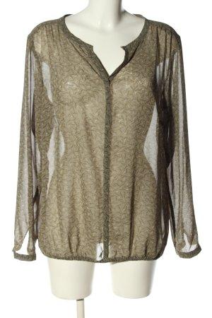 s.Oliver Schlupf-Bluse khaki abstraktes Muster Elegant