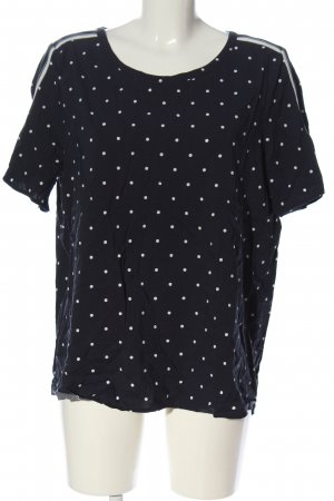 s.Oliver Slip-over Blouse blue-white spot pattern casual look