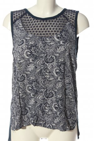 s.Oliver Blouse topje blauw-wit abstract patroon casual uitstraling