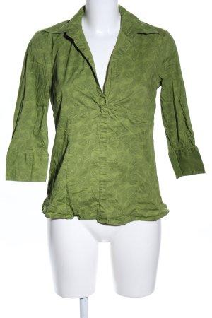 s.Oliver Schlupf-Bluse grün abstraktes Muster Casual-Look