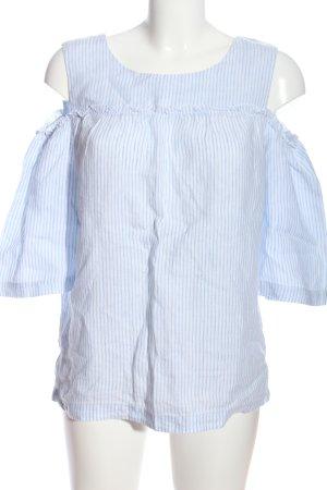 s.Oliver Schlupf-Bluse blau-weiß Streifenmuster Casual-Look