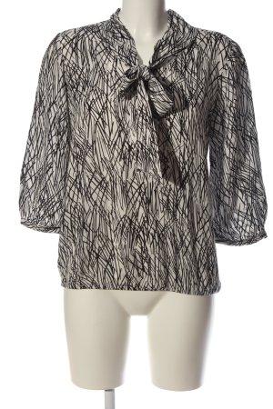 s.Oliver Schlupf-Bluse weiß-schwarz abstraktes Muster Casual-Look