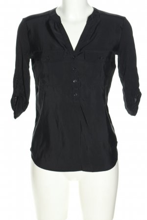 s.Oliver Schlupf-Bluse blau Webmuster Business-Look