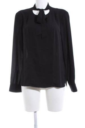 s.Oliver Tie-neck Blouse black business style