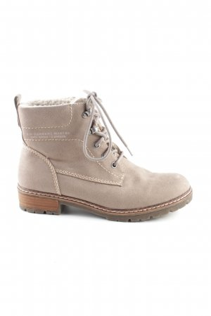 s.Oliver Lace-up Booties natural white casual look