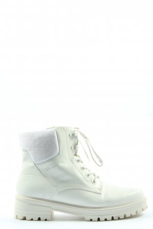 s.Oliver Lace-up Booties white casual look