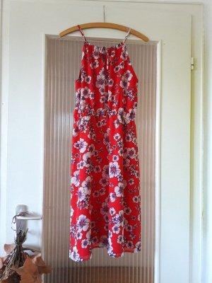 s.Oliver schulterfreies Blumenkleid Sommerkleid Off Shoulder Kleid