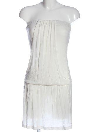 s.Oliver Vestido strapless blanco look casual