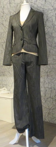 Selection by s.oliver Costume business gris brun polyester
