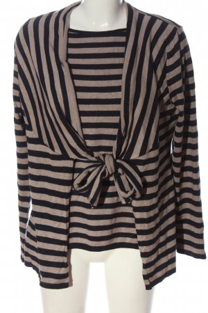 s.Oliver Selection Twin Set tipo suéter natural white-black striped pattern