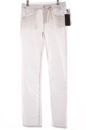 s.Oliver Jeansy z prostymi nogawkami biały Prosty styl