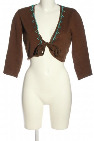 s.Oliver Selection Knitted Bolero brown casual look