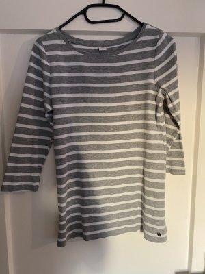 S.Oliver Shirt 3/4 grau/weiß Gr.38