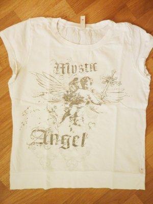 S Oliver Shirt Esprit Mystic Angel weiss grau Engel Shirt 38