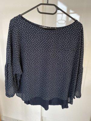 s.Oliver Lang shirt wit-blauw