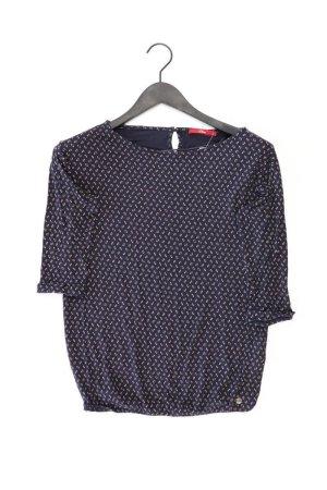 s.Oliver Shirt Größe 36 mit Blumenmuster 3/4 Ärmel blau aus Viskose