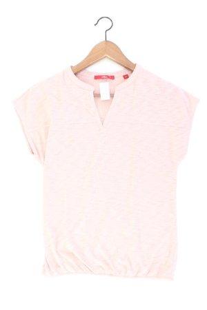 s.Oliver Shirt mit V-Ausschnitt Größe 34 Kurzarm pink